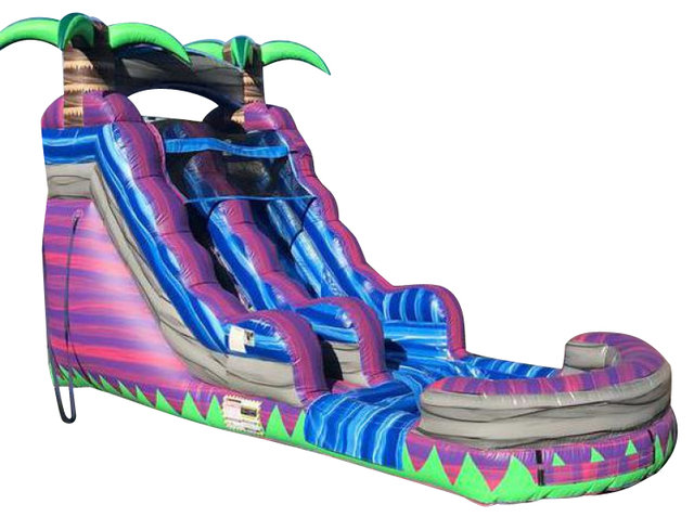 16 Ft Purple Crush Water Slide Wet 29x16
